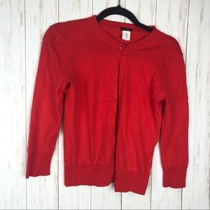 J. Crew red cardigan size xs